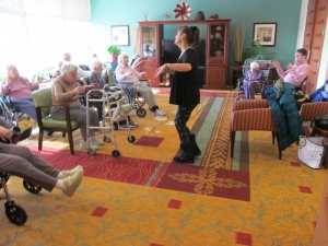 Wellness life enrichment programming at The Jewish Home.