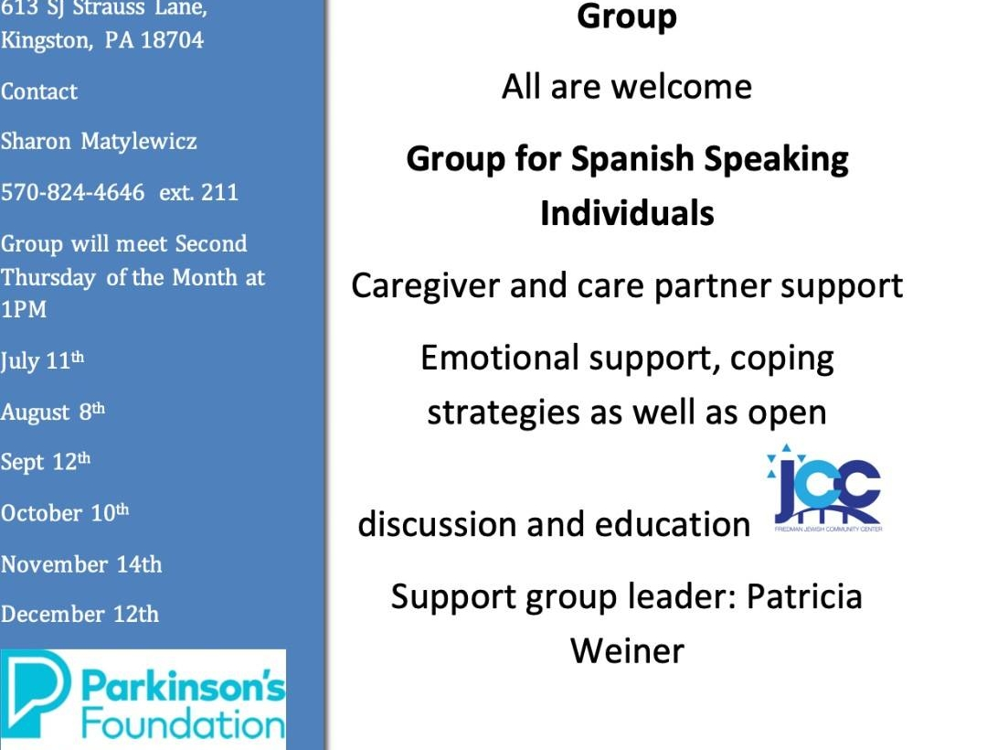 Parkinson's Support Group (Spanish) with Patty Weiner